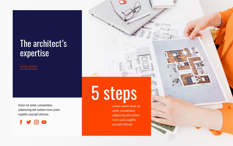 Architectural  expertise Landing Page