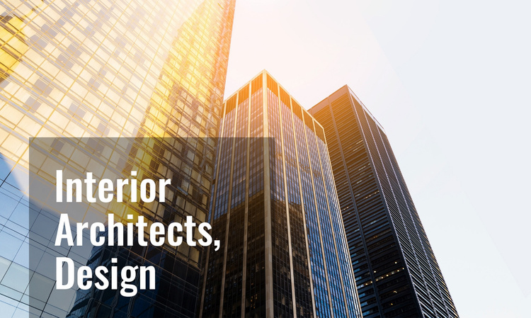 Design for multi-storey buildings  Website Template