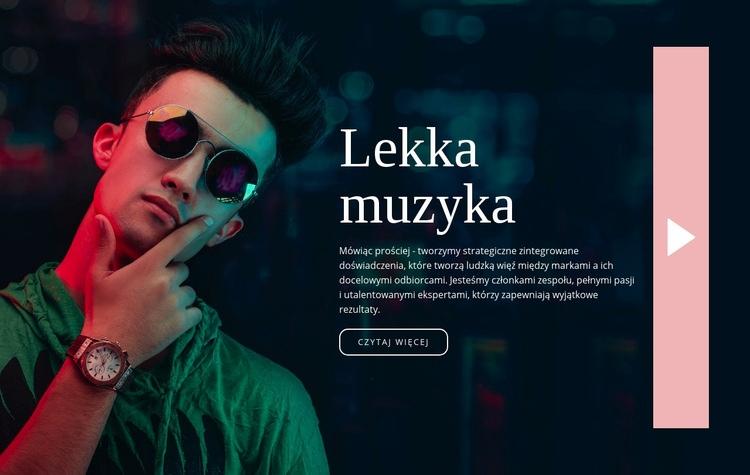 Lekki styl muzyczny Szablon witryny sieci Web
