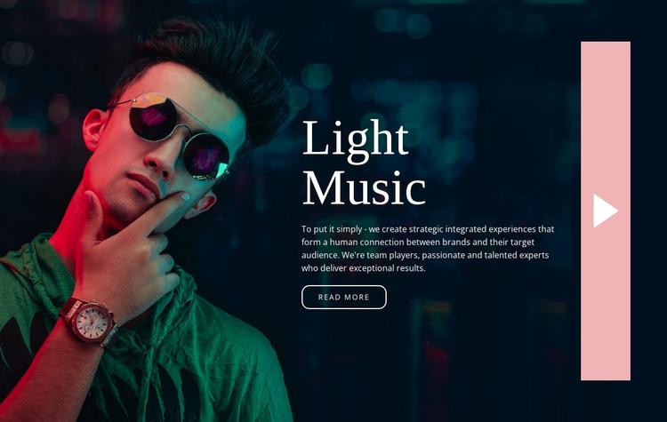 Light music style Website Builder Software