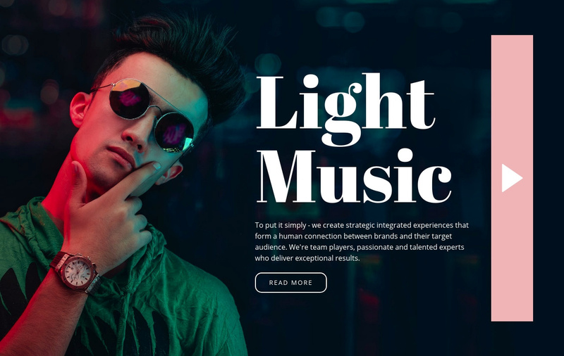 Light music style Website Maker