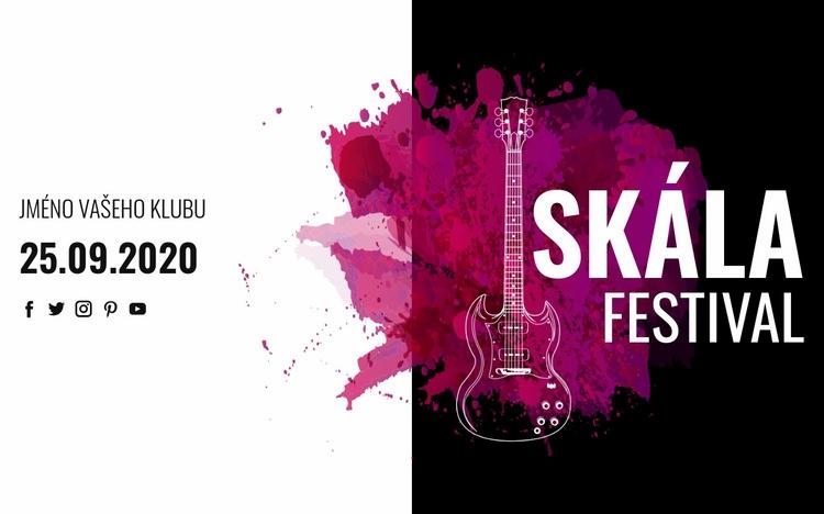 Festival rockové hudby Šablona webové stránky