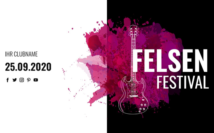 Rockmusikfestival Website-Vorlage