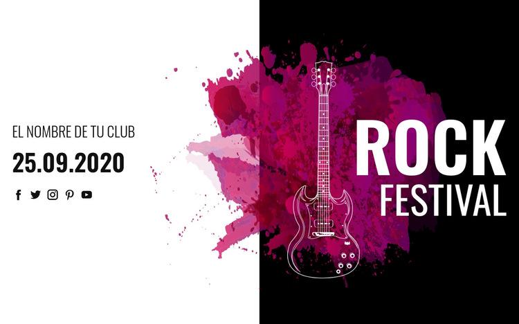 Festival de musica rock Plantilla de sitio web