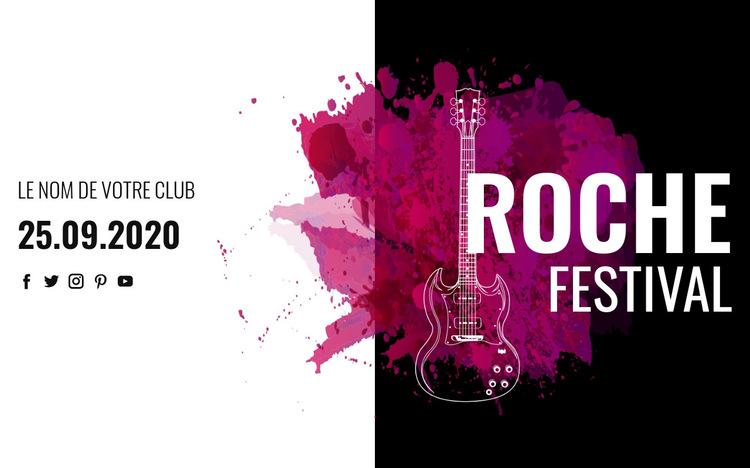Festival de musique rock Modèle de site Web