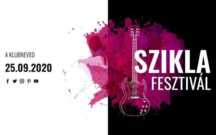 Rockzenei fesztivál Weboldal sablon