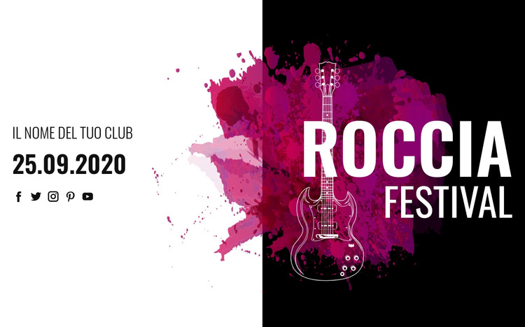 Festival di musica rock Modello di sito Web