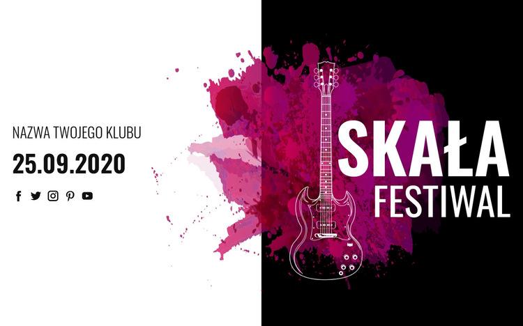 Festiwal muzyki rockowej Szablon witryny sieci Web