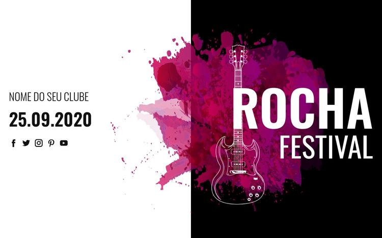 Festival de música rock Modelo de site