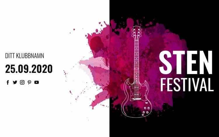 Rockmusikfestival Webbplats mall