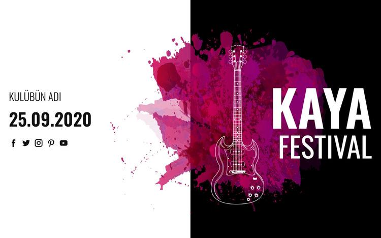 Rock müzik festivali Web Sitesi Şablonu