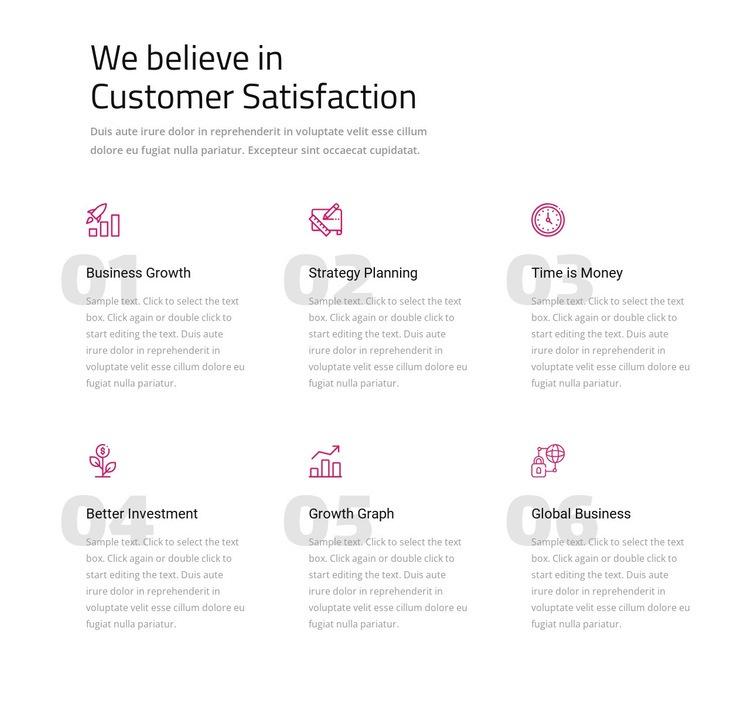 We believe in customer satisfaction Html Code Example