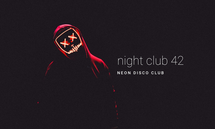 Neon night club One Page Template