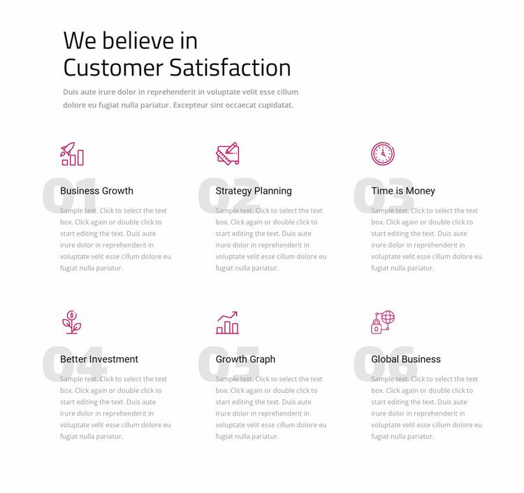 We believe in customer satisfaction Website Template
