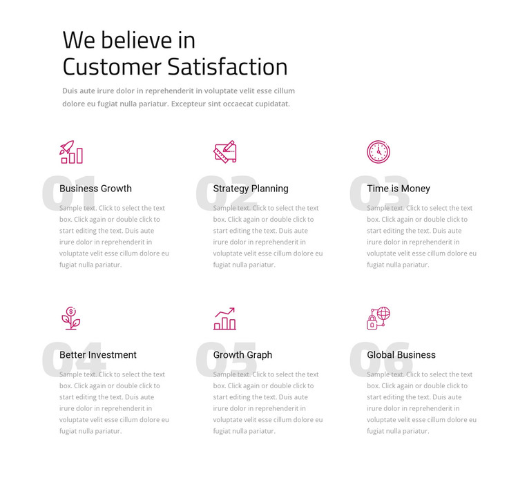 We believe in customer satisfaction WordPress Theme