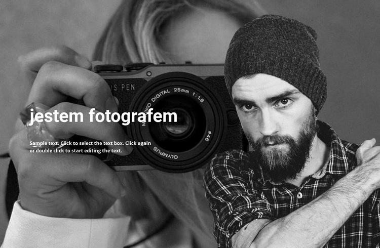 Fotograf i jego praca Szablon witryny sieci Web