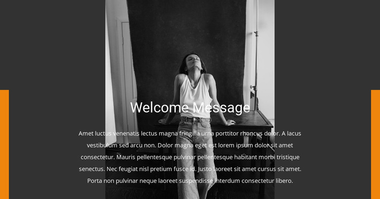 Welcome to the agency Website Mockup