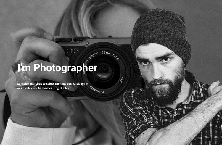 Photographer and his work Website Mockup