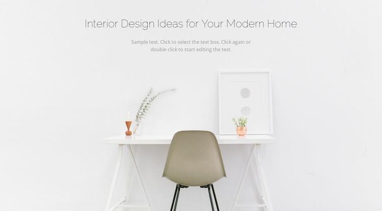 Modern business interiors HTML Template