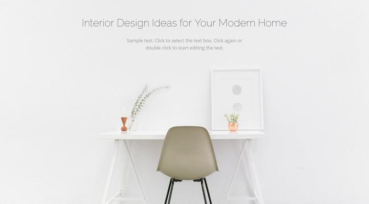 Modern business interiors Web Page Designer