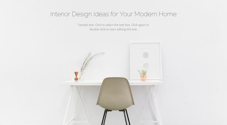 Modern business interiors Website Design