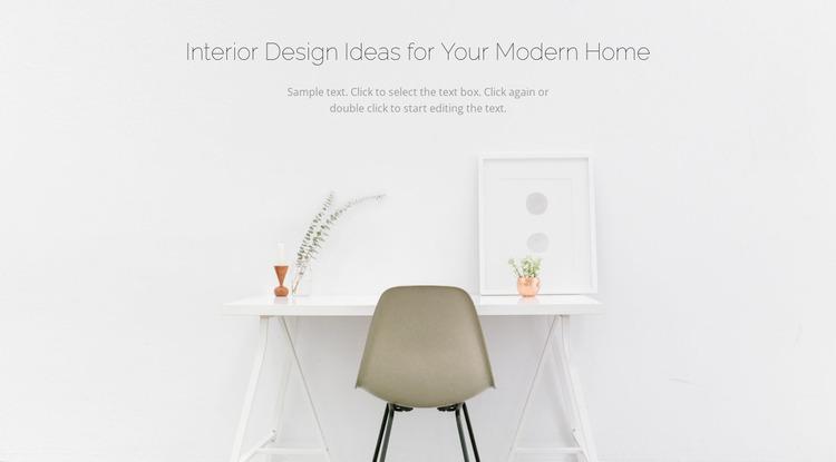Modern business interiors Website Mockup