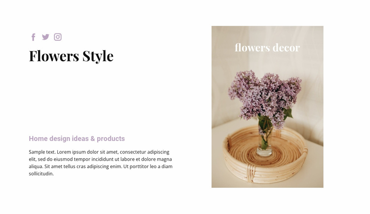 Floral style in the house Website Template