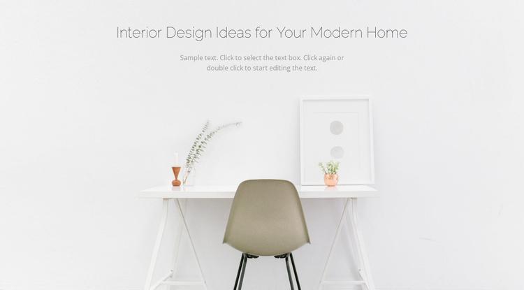 Modern business interiors Landing Page