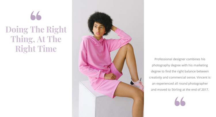 Pink is in fashion HTML Template