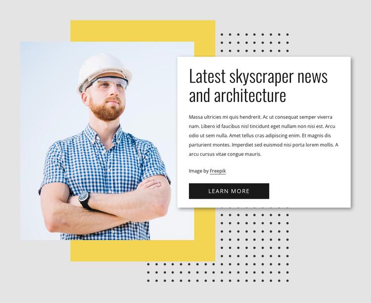 Skyscraper news HTML Template