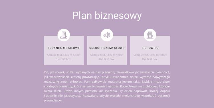 Trzy kroki planowania Szablon witryny sieci Web