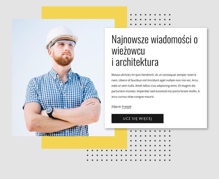 Wieżowiec wiadomości Szablon witryny sieci Web