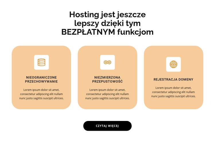Trzy punkty Szablon witryny sieci Web