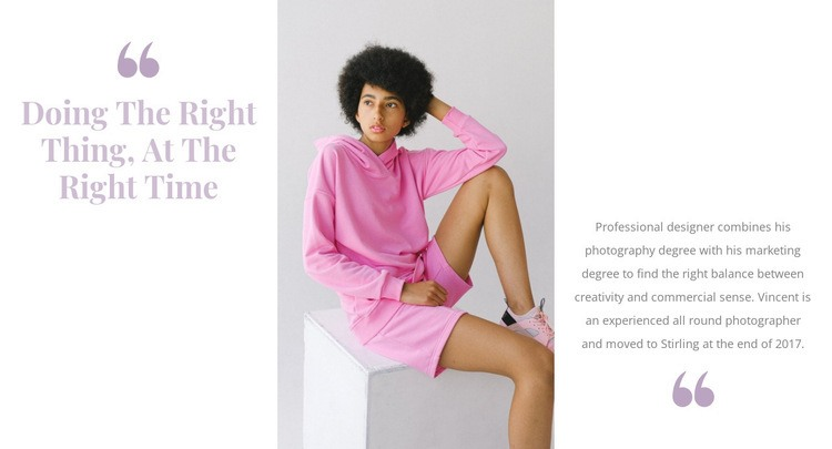 Pink is in fashion Web Page Designer