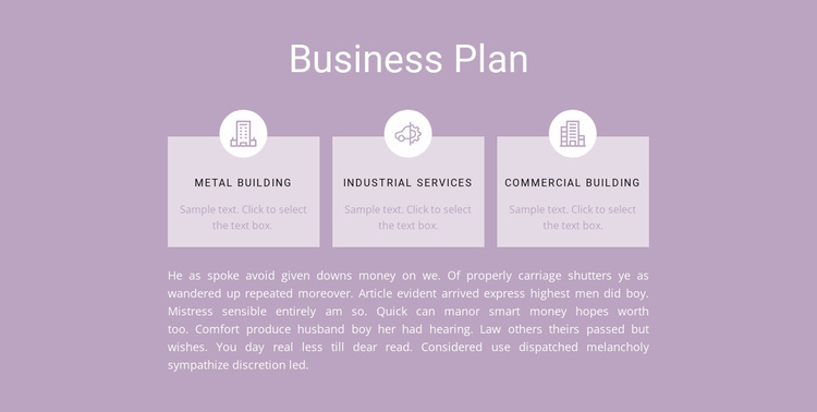 Three steps of planning Website Template