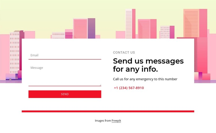 Send us messages for any info CSS Template