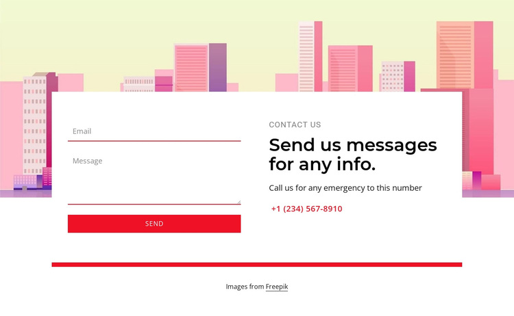 Send us messages for any info Template