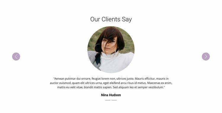Slider with testimonials Web Page Designer