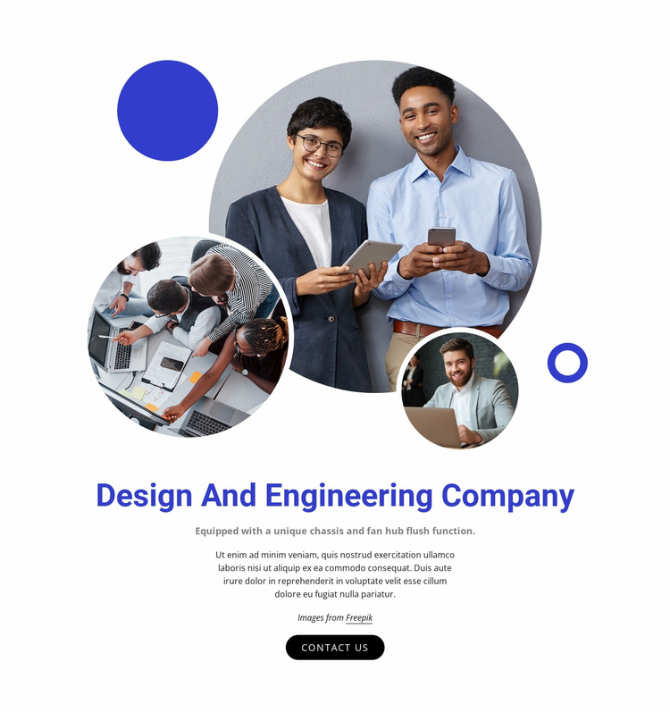 Design and engineering company Website Template