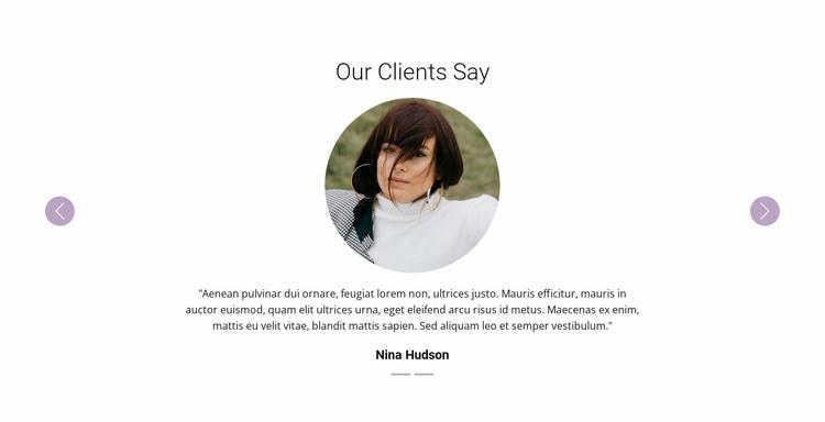 Slider with testimonials Website Template