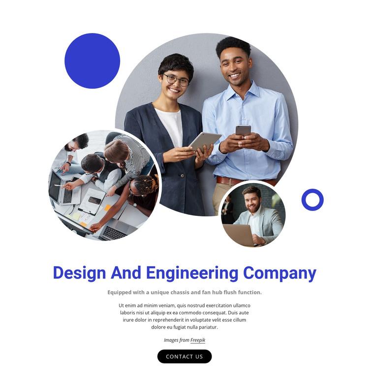 Design and engineering company WordPress Theme