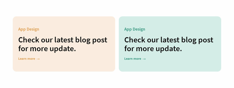 Two colored columns Website Template