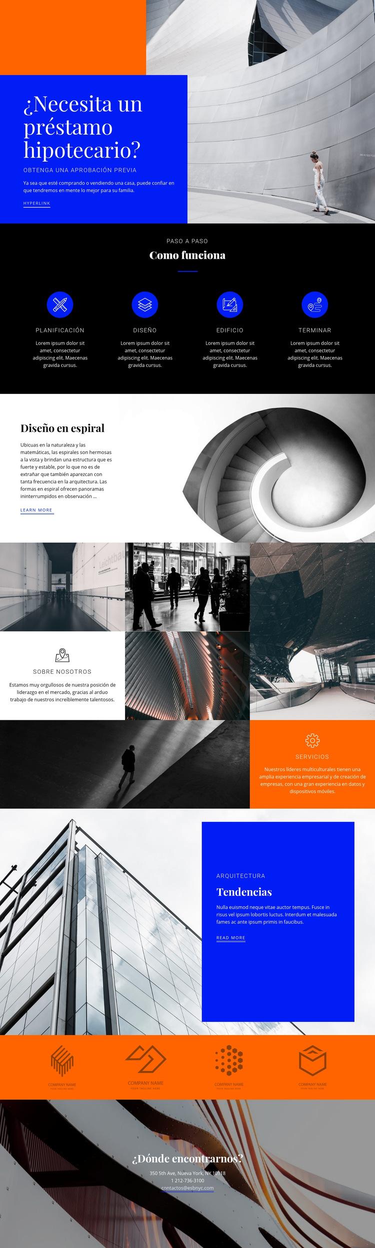 Agencia inmobiliaria local Plantilla de sitio web