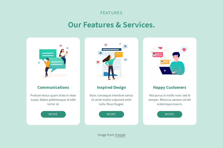 Our features and services Joomla Template