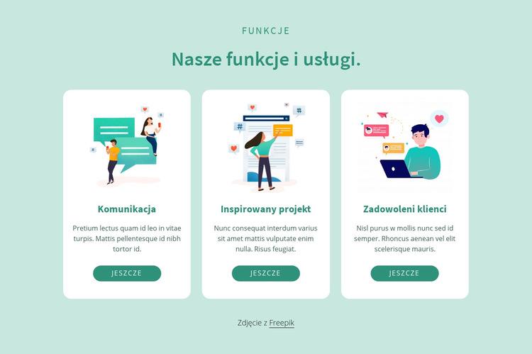 Nasze funkcje i usługi Szablon witryny sieci Web