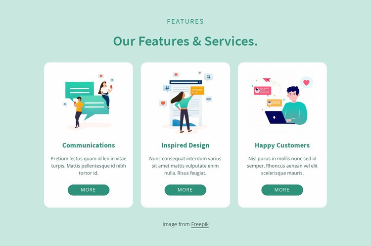Our features and services Web Page Designer