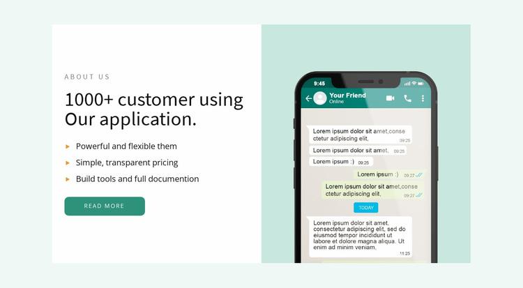Our application Website Design
