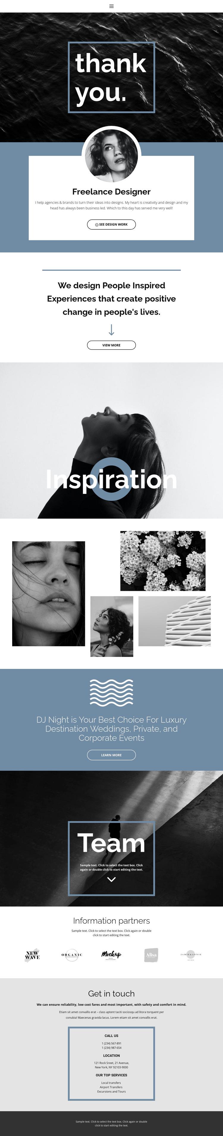 Freelance designers Joomla Template