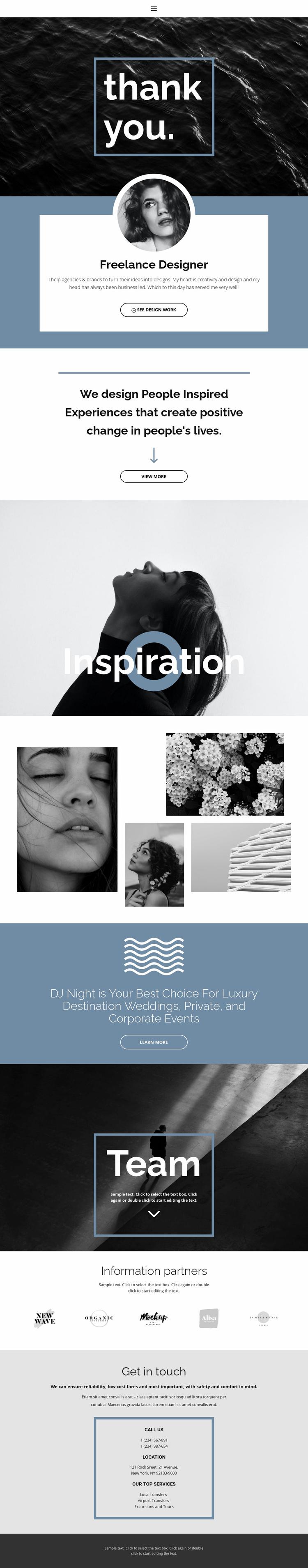 Freelance designers Website Template