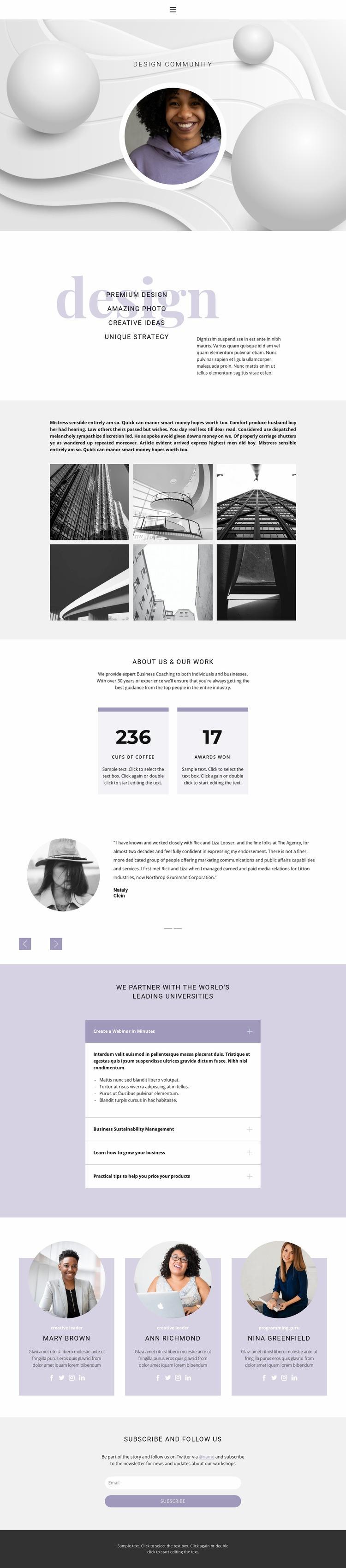 Unusual designs Web Page Designer